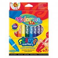 Colorino kétoldalas filctoll nyomdával az egyik oldalán 10 színű 36092