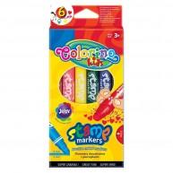 Colorino kétoldalas filctoll egyik oldalán nyomdával 6 szín 36122