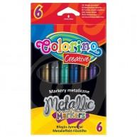 Colorino metálos színű filctoll 6db 32582