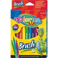 Colorino ecset végű filctoll 10 szín 65610