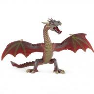 Bullyland Repülő sárkány , vörös-barna játék figura  BUL-75591