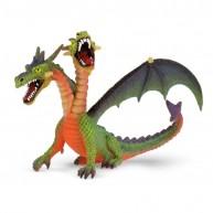Bullyland Kétfejű sárkány, zöld-narancssárga  BUL-75596