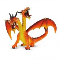 Bullyland Kétfejű sárkány, narancssárga  BUL-75598