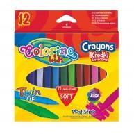 Colorino Kids háromszög alakú zsírkréta mindkét végén hegyezett 12db 32667