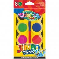 Colorino Kids 8 színű vízfesték, Jumbo, színkorong átmérő: 40 mm 32612