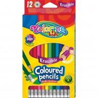 Colorino Kids hatszögletű 12db-os színes ceruzakészlet radírral 92531PTR