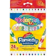 Colorino kétoldalas filctoll 12db/24 szín 32353