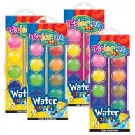 Colorino Kids 12 színű vízfesték korong átmérő:  30 mm  41089