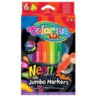 Colorino háromszög alakú filctoll 6 Neon szín 38881