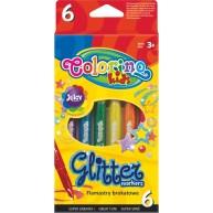 Colorino csillogó színű filctoll 6db 65641