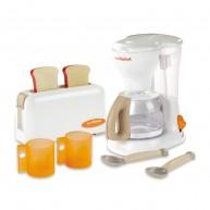 SMOBY reggeliző készlet Tefal márkájú kávéfőzővel, kenyérpirítóval és 6 kiegészítővel