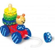 Legler húzható játék mackó Montessori toronnyal 7983