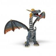 Bullyland Ülő sárkány, kék-ezüst  játék figura BUL-75594