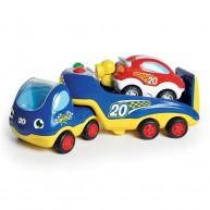WOW Toys Rocco a versenyautó szállító 1 versenyautóval 4015