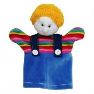 Puppet World 3 ujjas plüss fiú báb 1358