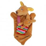 Puppet World kengurú báb kicsinyével 2490