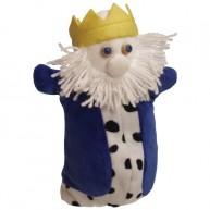 Puppet World 3 ujjas plüss öreg király báb 1355