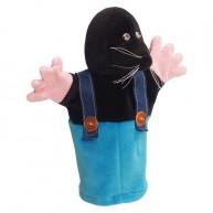 Puppet World 3 ujjas plüss báb vakond kantáros nadrágban 1384