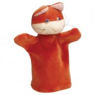 Puppet World 3 ujjas plüss vörös cica báb 1374