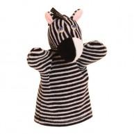 Puppet World 3 ujjas plüss zebra báb 1369
