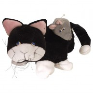 Puppet World kesztyűbáb gyerekeknek fekete macska 1403