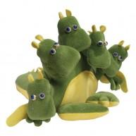 Kesztyűbáb felnőtt kézre 5 fejű sárkány 2587
