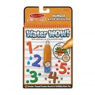 Melissa & Doug vízzel kiszínezhető füzet számok tanulása Water WOW! 4 képes 5399