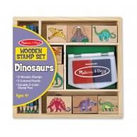 Melissa & Doug 8db-os dinoszauruszos nyomda 5db színes ceruzával 1633