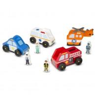 Melissa & Doug játék vészhelyzet járművek 9285