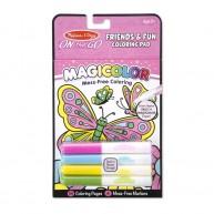 Melissa & Doug varázslatos kifestő 4 mágikus tollal 18 oldalas pillangós 9143