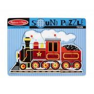Melissa & Doug Puzzle hangot adó formákkal - Mozdony 729