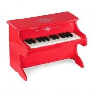 Viga Fa játék zongora piros 4653