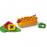 Woody játék hot-dog fából 91174