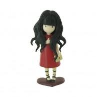 Comansi Gorjuss játék figura piros ruhában 90116