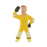 Comansi Sam, a tűzoltó mese játékfigurája Sam sárga tűzálló ruhában 99952