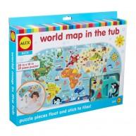 ALEX csempére tapasztható fürdőjáték világtérkép