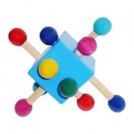 Fa ügyességi kocka babáknak kék 0310D