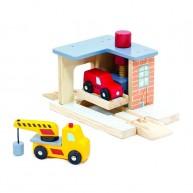 Mentari autószerviz fa vonatkészlethez autómentővel 4682