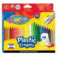 Colorino Kids zsírkréta szuperpuha, radírozható 24db-os 92029