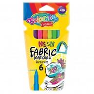 Colorino neon színű textil filctoll 6db 80071