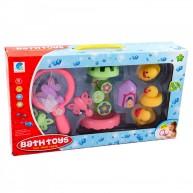 Fürdőkád játék szett 9db-os kacsákal, vízimalommal és egy merítőhálóval MK Toys