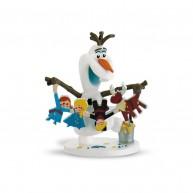 Bullyland  Jégvarázs,Olaf kalandjai: Olaf figura mézeskaláccsal  BUL-12943