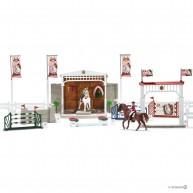Schleich Nagy díjugratás lovakkal 42338