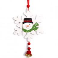 IMP-EX Fa karácsonyfadísz-hóember egy hópihén-fehér 4427C