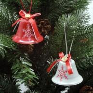 IMP-EX karácsonyfadísz csengők piros-fehér szett 6db