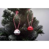 IMP-EX karácsonyfadísz száncsengő piros-fehér 24db