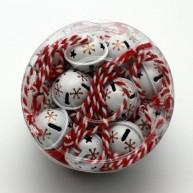 IMP-EX karácsonyfadísz dekoráció 24 db fehér száncsengő