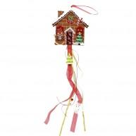 IMP-EX karácsonyi dekoráció ajtódísz - mézeskalács házikó filcből