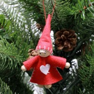 IMP-EX karácsonyfadísz piros angyalka fiú