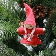 IMP-EX karácsonyfadísz piros angyalka lány